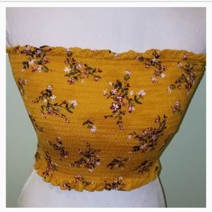 Heart and Hips Flowered Cropped Tube Top